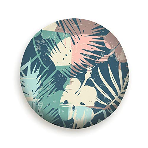 YANAIX Exotic Tropical Plants Artistic Surf Spare Wheel Tire Cover 16inch