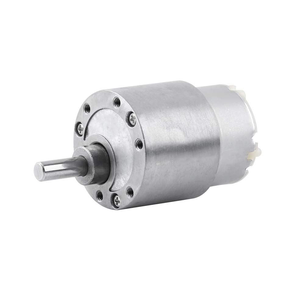 Torque Gear Box Motor 37mm DC 12V High Torque Gear Box Electric Motor 3.5//15//30//70RPM Reduction Motor 3.5RPM