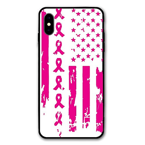 Best Friend Usa Flag (IPhone X Case IPhone 10 Case Breast Cancer Awareness USA Flag Anti Scratch And Shock Proof Cell Phone Shell Suitable For 5.8)