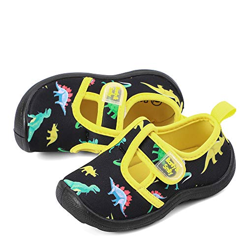 RANLY & SMILY Toddler Water Shoes Sport Sandals Boys, Comfort Walking Shoes for Summer/Beach Black/Dinosaur US 13 Little Kid -
