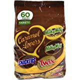 Mars Caramel Lovers Chocolate Miniatures Variety Pack, 60 count (Pack of 2)
