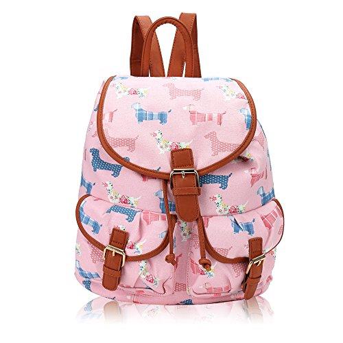 Beau Perry - Bolso mochila  para mujer rosa claro