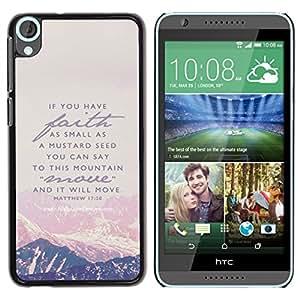 iBinBang / Funda Carcasa Cover Skin Case - Montaña Fe Dios Jesucristo Biblia - HTC Desire 820