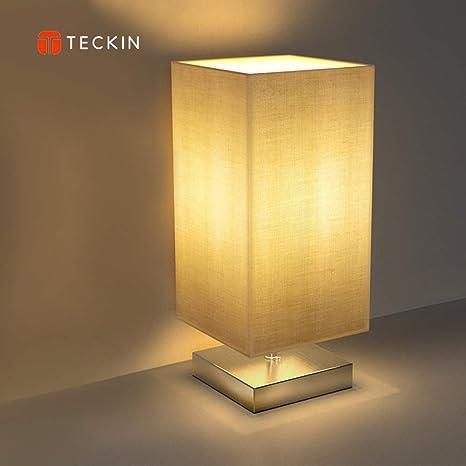 Noche Lámpara de escritorio lámpara de mesa, teckin Minimalist plástico, Metal Lámpara de mesa