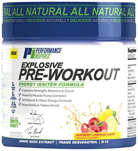 Performance Inspired Nutrition Explosive Pre-Workout, Raspberry Lemonade, 1.49 Pound
