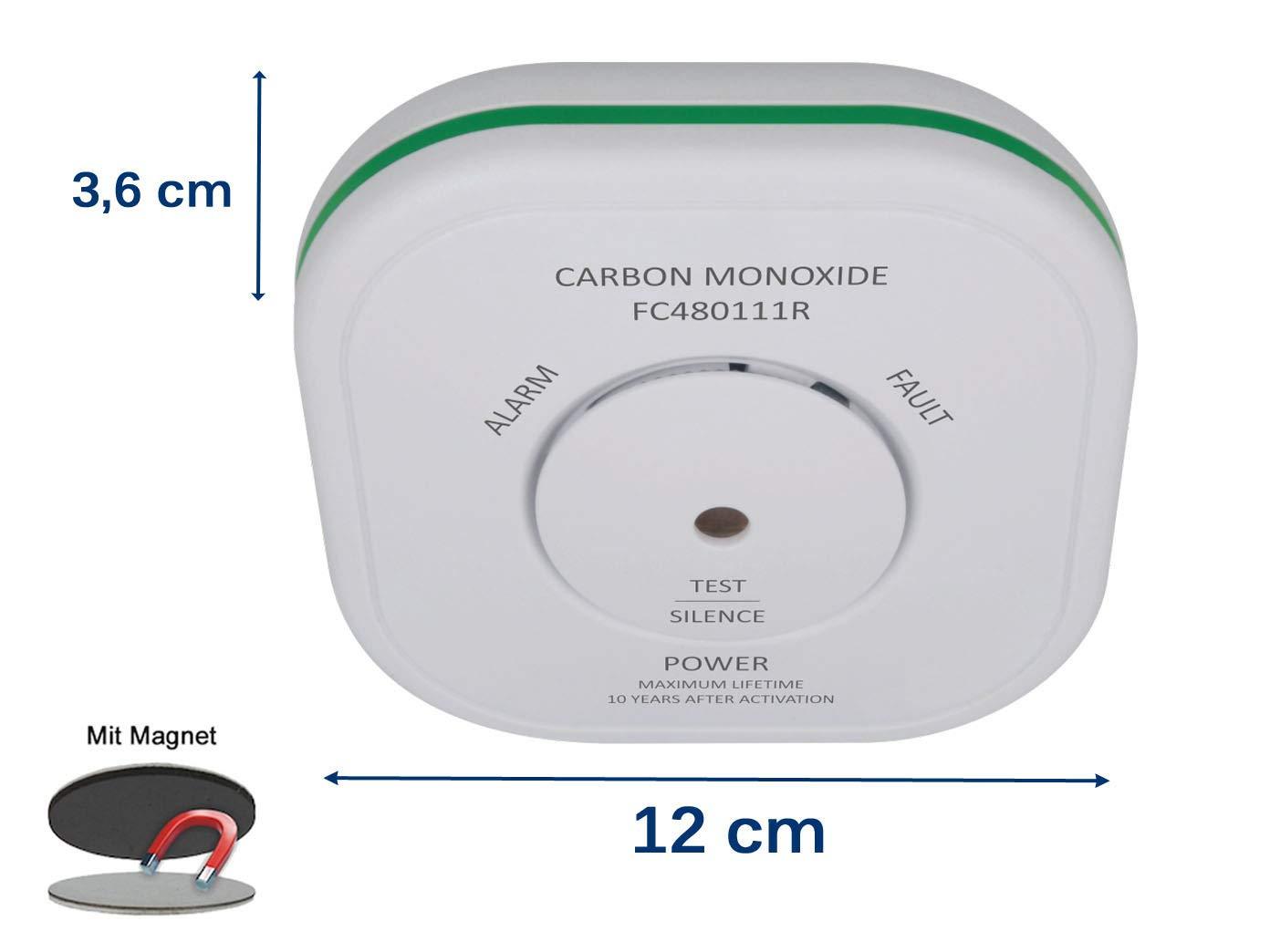 Elro Detector de monóxido de carbón con Soporte magnético y 10 años, Sensor Detector de CO verlinkbar con Smart Home Connects Sistema y Otros vernetzbaren ...