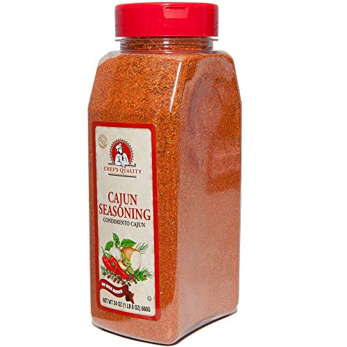 Cajun Seasoning & BBQ Rub | Made From Best Spices Paprika Salt Galic Onions | For Chicken Wings Pork Chops Fish Seafood Jambalaya Rice Gumbos Beef Steak Pasta Grilling Smoker | Chef Quality 1 LB 8 OZ by Chef's Quality