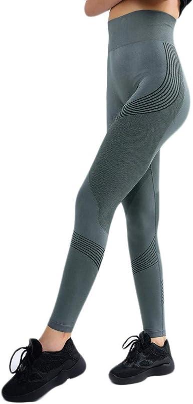 Hirdou Pantaloni da Yoga Senza Cuciture da Donna Leggings da Palestra Pantaloni da Corsa a Vita Alta Calzamaglia da Allenamento Sportiva