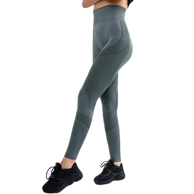 Mujer Pantalones Mallas Fitness Elásticos Color sólido Otoño ...