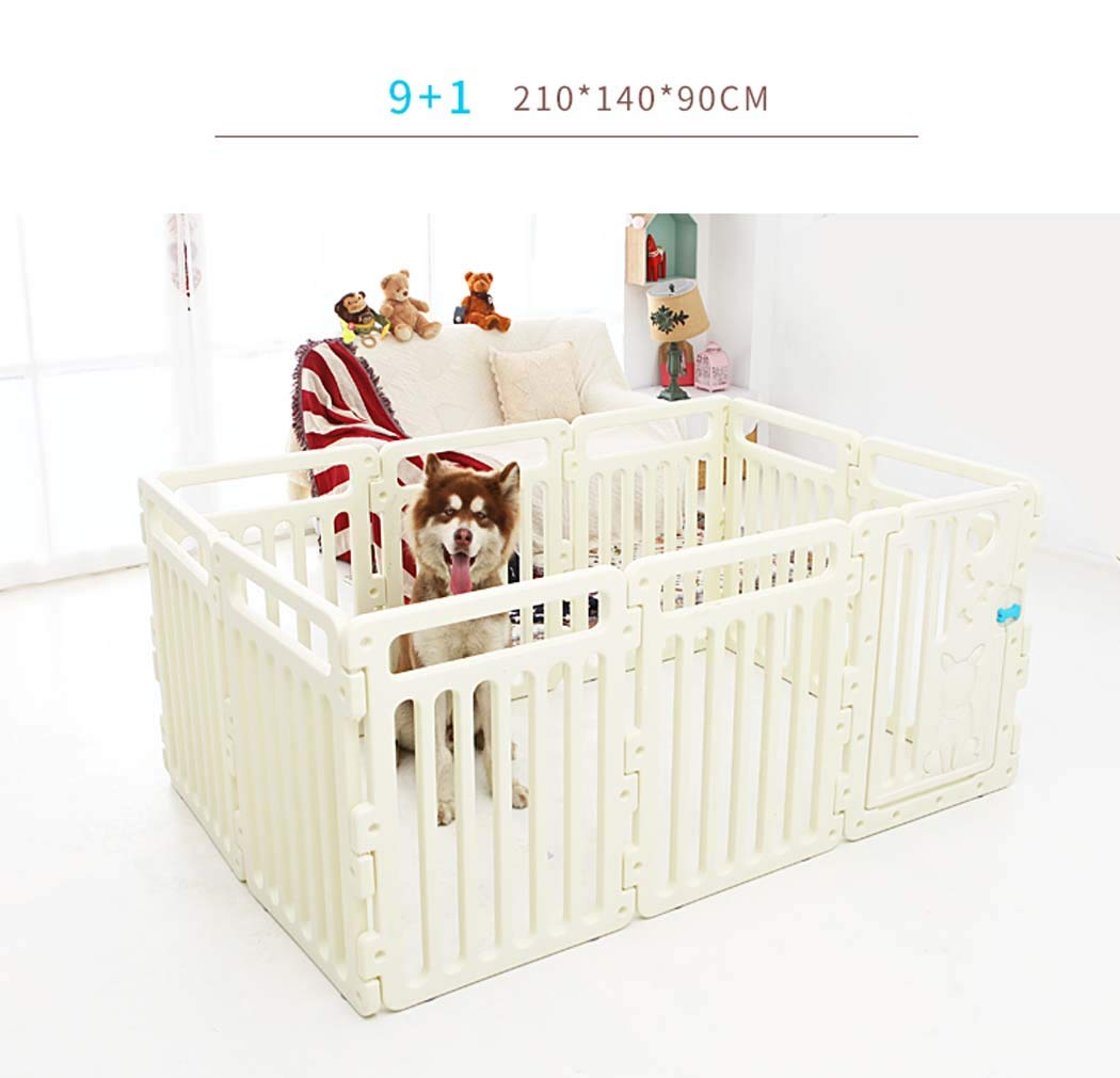 9+1 Small Dog Playpen for Indoor, Foldable and Portable Exercise Pen Fence for Different Size Pet Breeds, Adjustable Lightweight Kennel Gate Playpen,9+1