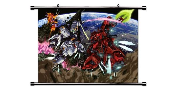 Amazon Com Mobile Suit Gundam Chars Counterattack Anime Fabric Wall Scroll Poster 32 X 23 Inches Wp Gundam Chars 25 L Posters Prints