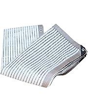 Aluminium Pergola Cover,Sunblock Schaduwdoek UV-bestendig Netto Aluminiumfolie Duurzaam Schaduwdoek, Outdoor Zon Mesh Schaduw met doorvoertules Geschikt voor Patio Veranda Zwembad Bescherming Planten