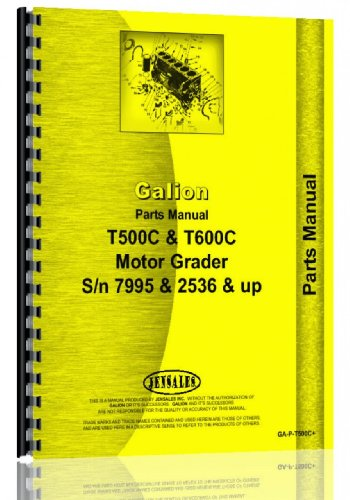 galion-t-500c-grader-parts-manual-sn-7995and-up