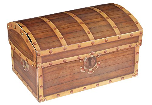 Folding Pirate's Treasure Chest Party Storage Box