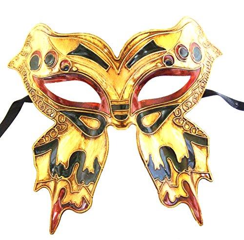 (Burgundy Butterfly Mask Venetian Mardi Gras New Orleans Masquerade Halloween)