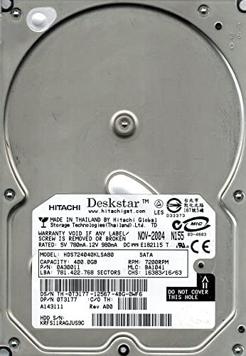 Hitachi HDS724040KLSA80 P//N 0A30011 MLC BA1041 400GB