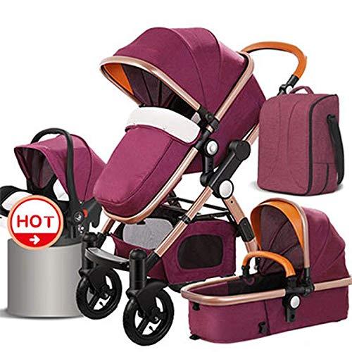Luxury Baby Stroller 3-in-1 and 4-in-1 high Landscape Stroller Travel System Stroller car