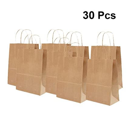 NUOBESTY Bolsas de papel Kraft de 30 piezas, bolsas de ...