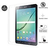 [2 Pack] Walle Shop Samsung Galaxy Tab A 10.1 Screen Protector - [Tempered Glass] [Bubble Free] [9H Hardness] 2.5D Scratch Resistant Screen Protector for Galaxy Tab A 10.1 Inch (SM-T580)