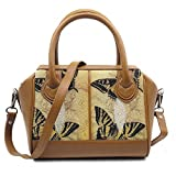 Stingray Genuine Leather Shoulder Bag Or Carry Handbag (Big Butterfly)