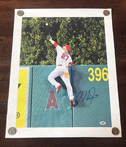- Mike Trout Autograph 16X20 Canvas Poster Psa/Dna Authentic Autographed Signed