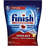 Finish Max in 1 Powerball, 27 Tablets, Super Charged Automatic Dishwasher Detergent, Lemon Scent