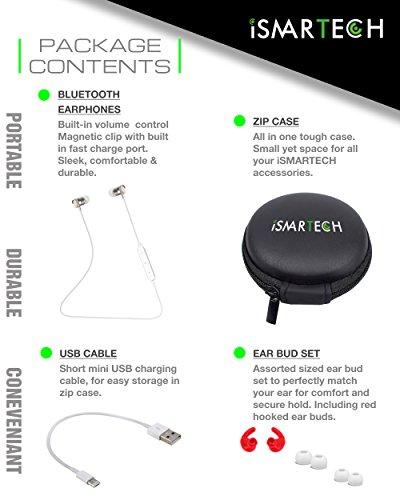 2016 Sport Wireless Bluetooth 4.1 Headphone Earphone Headset(White) - 5