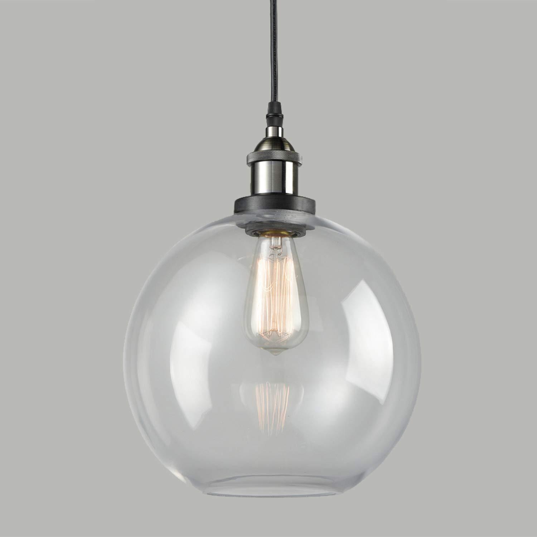 Axiland industrial pendant lighting with globe glass pendant light