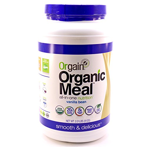 Orgain Organic Plant Based Meal Powder, Vanilla Bean, 2.01 Pound, 1 Count