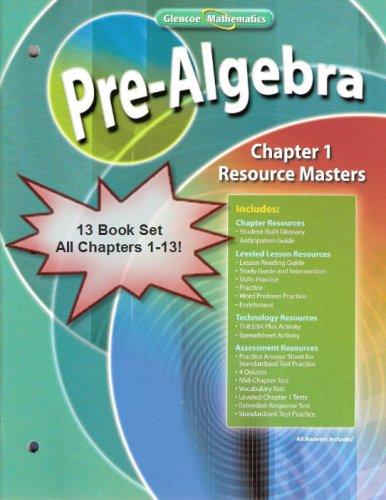 Glencoe Mathematics Pre Algebra Chapter Resource Masters