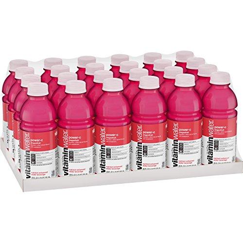 vitaminwater power-c electrolyte enhanced water w/ vitamins, dragonfruit drinks, 20 fl oz, 24 Pack