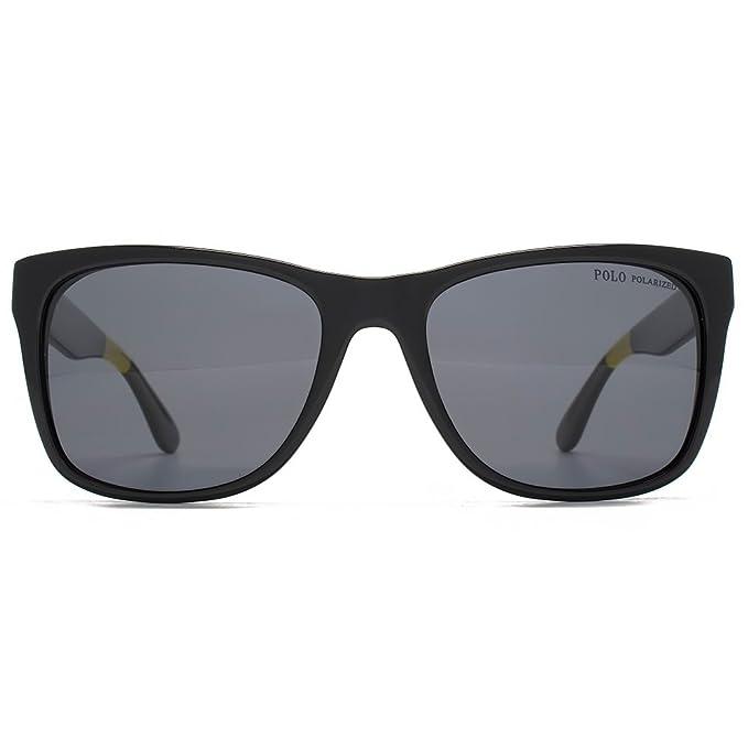 Polo Ralph Lauren PH4106 Sonnenbrille Schwarz 556781 Polarisiert 57mm Dyew0