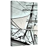 ArtWall Sailing on Star of India III Gallery Wrapped Canvas Artwork by Linda Parker, 24 by 36-Inch