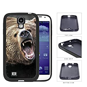 Angry Grizzly Bear Close-up Portrait Rubber Silicone TPU Cell Phone Case Samsung Galaxy S4 SIV I9500