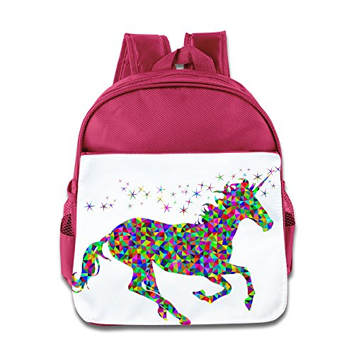 Cute Nerdy Girl Costumes Ideas (XJBD Custom Cute The Rainbow Horse Boys And Girls School Bag Backpack For 1-6 Years Old Pink)