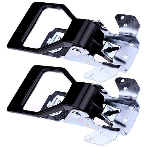 (OCPTY Door Handles Interior Driver Passenger Side Replacement fit 1982-1992 Chevrolet Pontiac Inside Door Handles Black(2pcs))