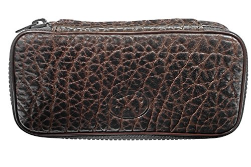 Martin Wess Germany ''Bison'' Buffalo Leather 2 Pipe Bag Case by Martin Wess