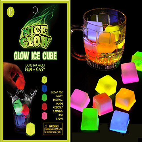 Glow Cube Multiple Color LED Ice Cubes Shape Lights For Parties, Bars and Festival (Taylor Swift Red Concert Costumes)