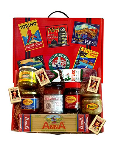 Italian Tour Deluxe Gourmet Gift Basket with Sopressata, Antipasti and Torrone