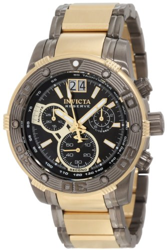 Invicta Men's 10592 Ocean Reef Reserve Chronograph Black Dial Two Tone Stainless Steel Watch -  0088667810592