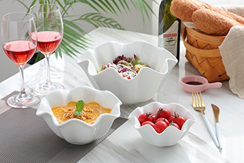 3 Piece Porcelain Serving Bowls Set - Salad Bowls/Cereal Bowls/Dessert Bowls/Ice Cream Bowls (3 piece) by Mandydov (Image #7)