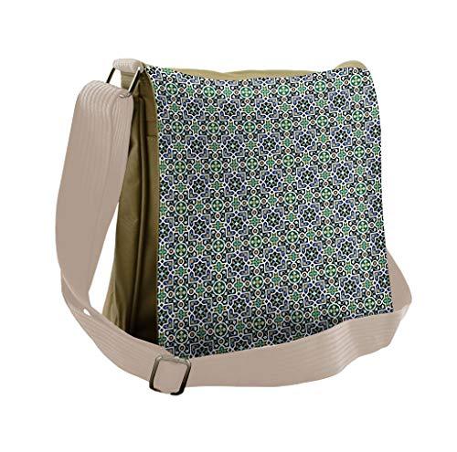 Lunarable Arabian Messenger Bag, Lily Daisy Blooms Vintage, Unisex Cross-body -  bei_49205