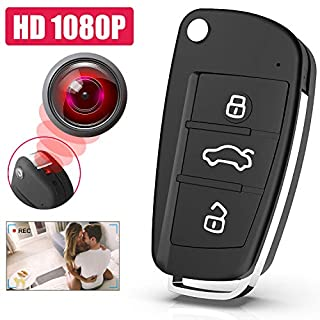 Portable Mini Keychain Video Camera, 2020 New Version 1080P HD Small Security DVR Camera with IR Night Vision and Long Battery Life Mini Recording Device for Indoor and Outdoor