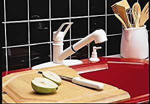 Oakbrook Kitchen Faucet Single Handle White Finish