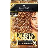Schwarzkopf Keratin Color, Color & Moisture Permanent Hair Color Cream, 9.00 Honey Blonde (Pack of 12)
