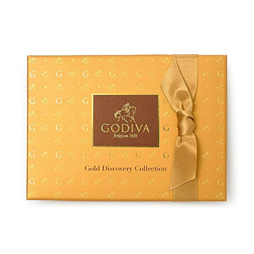 - Godiva Chocolatier 12 Piece Gold Discovery Gift Box Assorted Gourmet Chocolates, Great for any gift