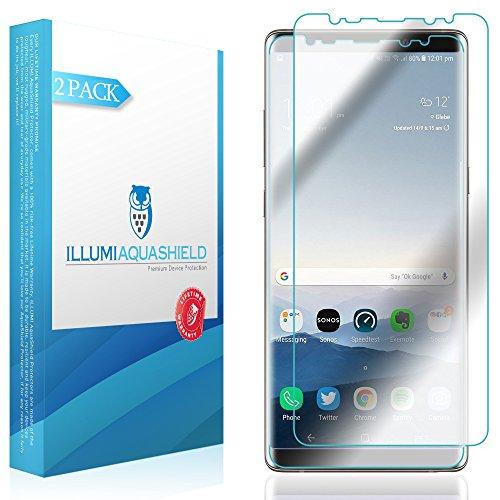 Galaxy Note 8 Screen Protector (Case Friendly Version) [2-Pack] [Not Glass] ILLUMI AquaShield Full Coverage Screen Protector for Samsung Galaxy Note 8 Wet Applied HD Clear [Bubble Free]