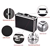 Aluminum Hard Case Foam Black Briefcase ToolBox