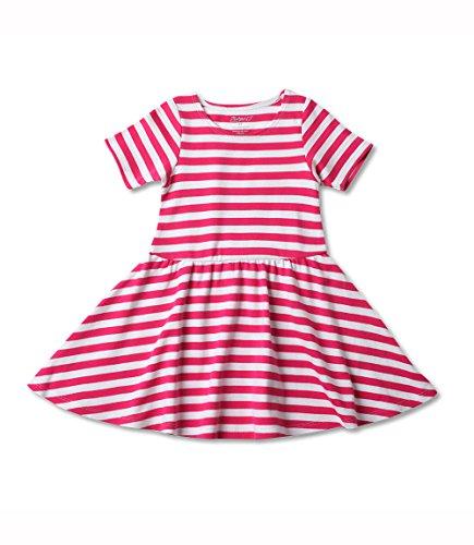 Zutano Cotton Short Sleeve Forever Dress 18M (12-18 Months), Fuchsia/White