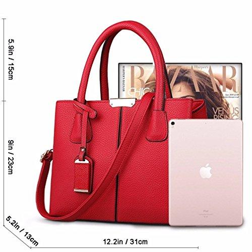 Hombro al Rojo Rufous Bolso para BMKWSG Mujer qgxEf08